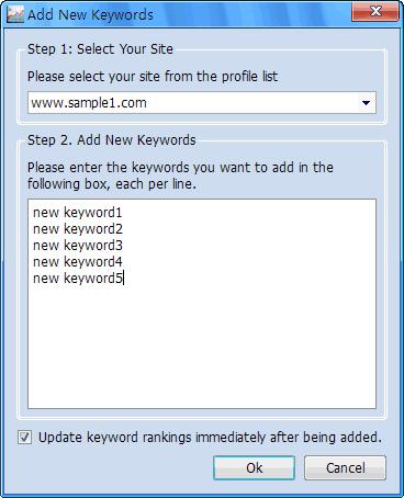 Add New Keywords