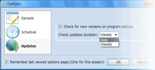 Check Program Updates on Program Startup