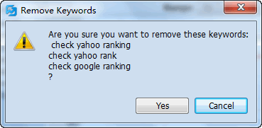 Delete Multiple Keywords